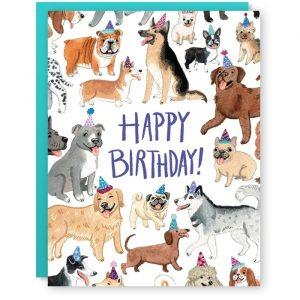 Birthday Dogs Card