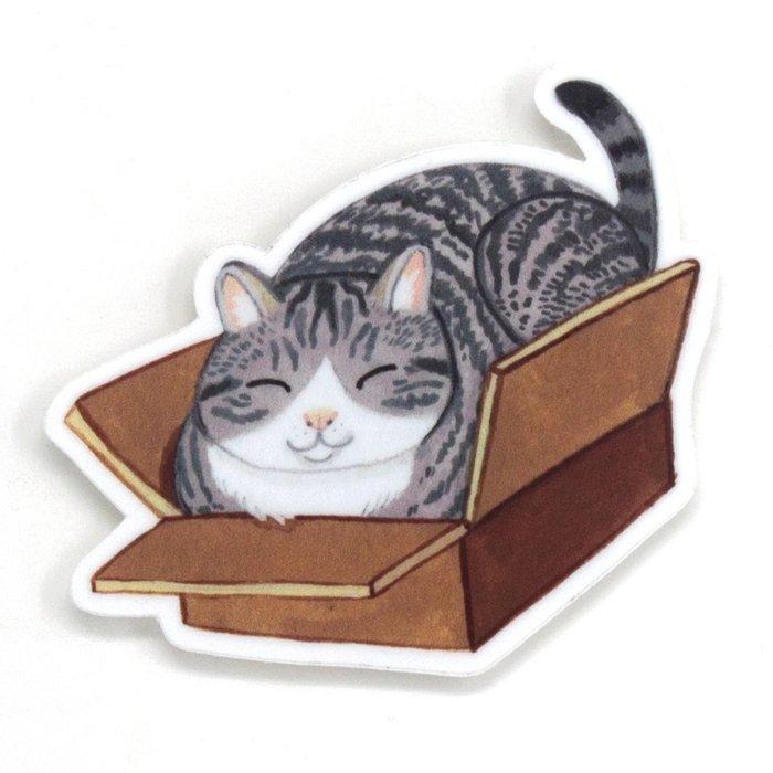 Box Cat Sticker