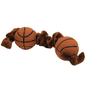 Plush and Vinyl Basketball Tug Toy