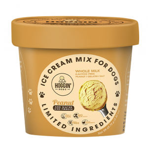 Hoggin Dogs Peanut Butter Flavored Ice Cream Mix