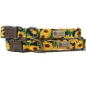 Sunflowers - Organic Cotton Cat Collar
